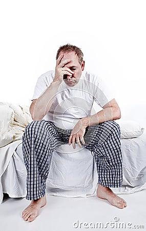 Men having a difficult morning