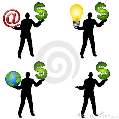 Free Men Holding Money And Other Items Royalty Free Stock Images - 4318209