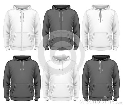 Men hoodie Vector Illustration