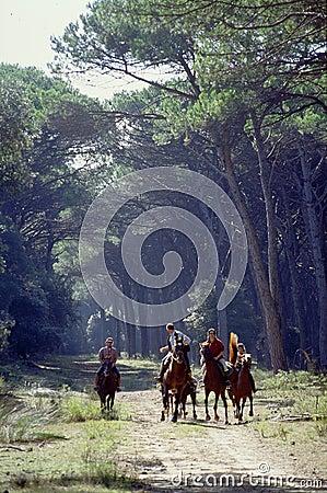 Men and Horses