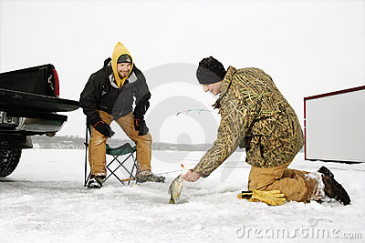 Men Ice Fishing
