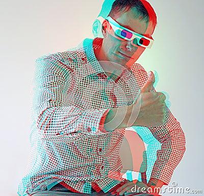 Free Men In Stereo  Glasses Stock Image - 16579621
