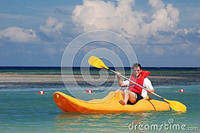 Men in the kayak