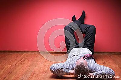 Men lying in the floor