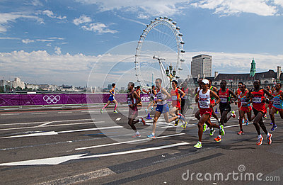 Men Marathon - Olympics 2012 Editorial Stock Image
