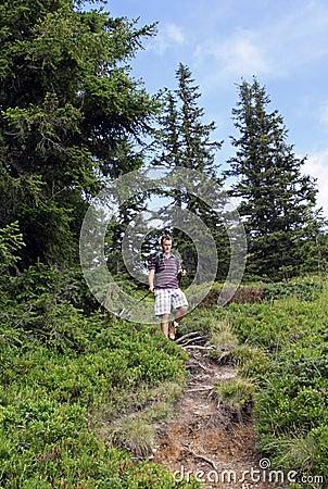 Men nordic walking