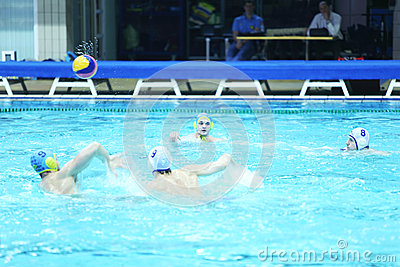 Men play water polo Editorial Photography