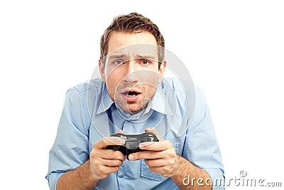 Men playing video games