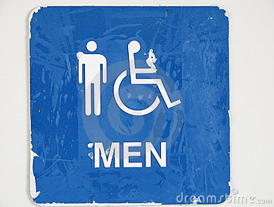 . Men  39 s Restroom Sign Stock Photos   Image  29976533