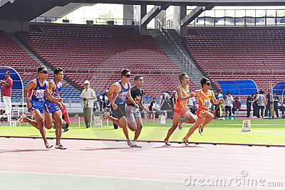 Men s 100 Meters for Blind Persons Editorial Image