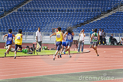 Men s 100 Meters for Disabled Persons Editorial Stock Photo
