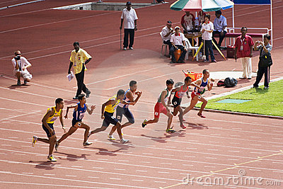 Men s 100 Meters for Visually Impaired Persons Editorial Stock Photo