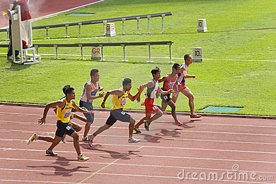 Men s 100 Meters for Visually Impaired Persons Editorial Stock Image
