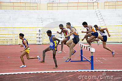 Men s 3000 Meters Steeplechase Editorial Photo