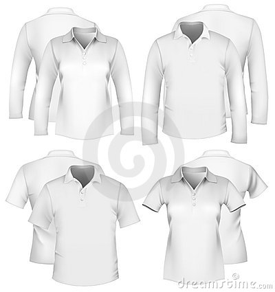 Free Men S And Women S Shirt Design Templates. Stock Photography - 16056562