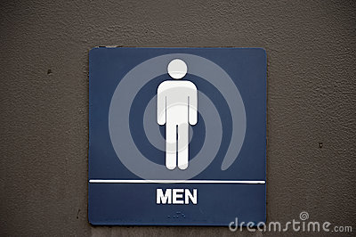Men s Bathroom Sign