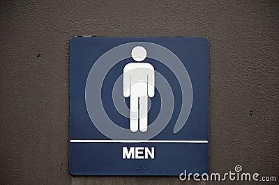 Men s Bathroom Sign