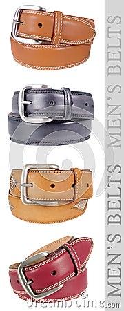 Free Men S Belts, Multicolor Stock Image - 19689871
