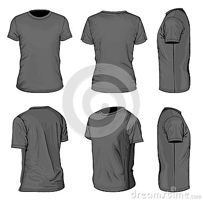 Free Men S Black Short Sleeve T-shirt Design Templates Royalty Free Stock Images - 31149009