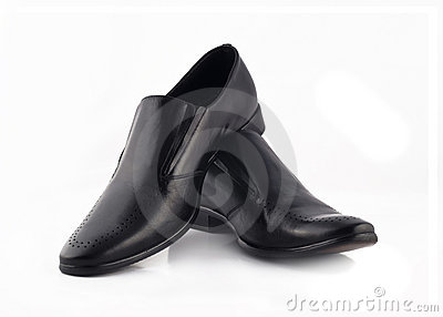 Men s classic leather shoes isolated over white