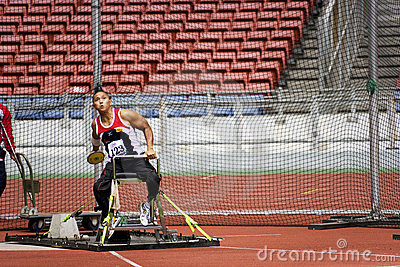 Men s Discus Throw for Disabled Persons Editorial Photography