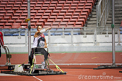 Men s Discus Throw for Disabled Persons Editorial Photo