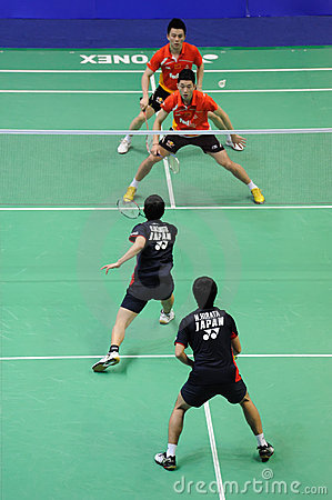 men s  doubles,Badminton asia championships 2011 Editorial Photography