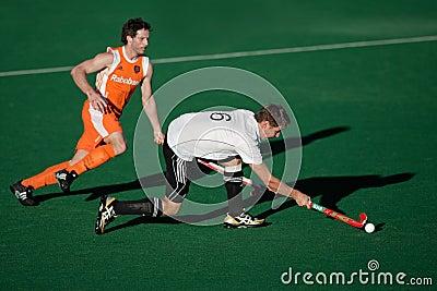 Men s field hockey action Editorial Stock Photo