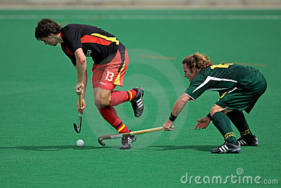 Men s field hockey action Editorial Photo