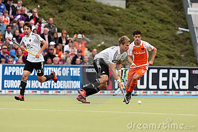 Men s Finals .Hockey European Cup Germany 2011 Editorial Photography