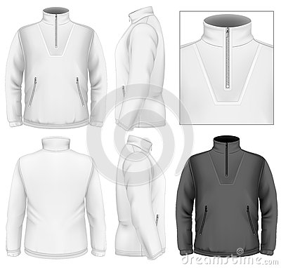 Free Men S Fleece Sweater Design Template Royalty Free Stock Photography - 33503567