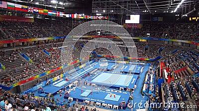 Men s Gymnastics in Beijing Paralympic Games Editorial Stock Photo