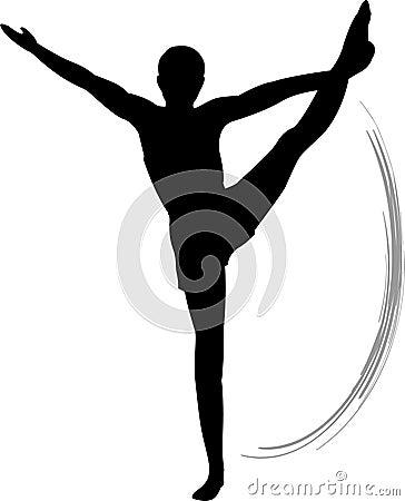Men Gymnastics Floor Exercise Royalty Free Stock