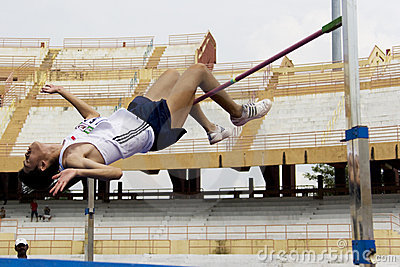 Men s High Jump Action Editorial Image