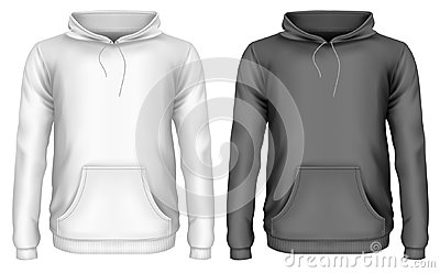 Men`s hoodie Vector Illustration