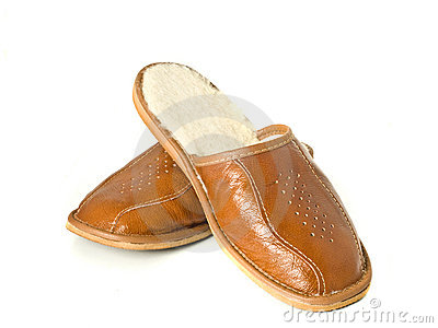 Men s house slippers isolated