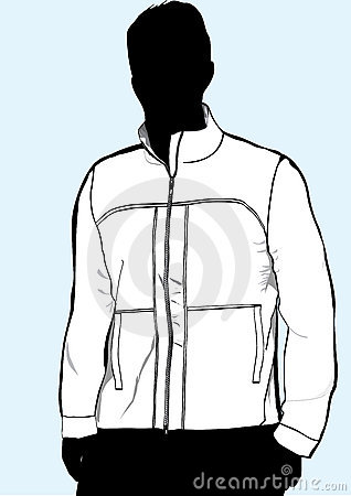 Men s jacket or sweatshirt template