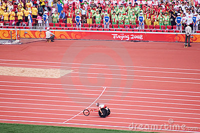 Men s marathon in Beijing Paralympic Games Editorial Photography