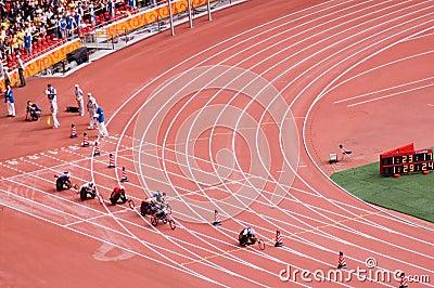 Men s marathon in Beijing Paralympic Games Editorial Stock Photo