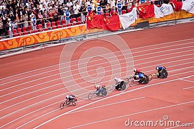 Men s marathon in Beijing Paralympic Games Editorial Stock Image