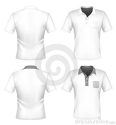 Men s polo shirt design template with pocket