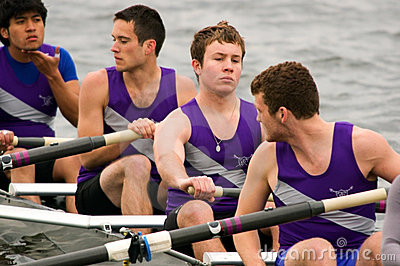 Men s Rowing Team Waits Editorial Photography