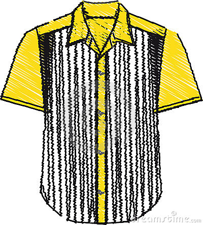 Men s shirt illustration