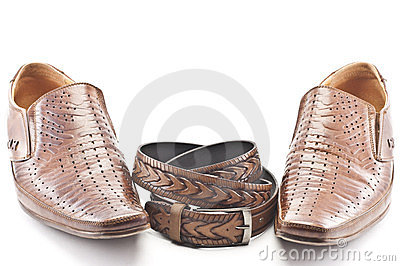 Men s shoes and men s belt