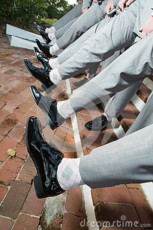 Men s shoes and pant legs