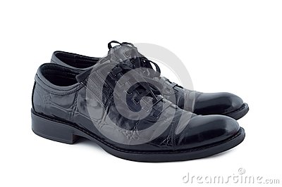 Men s shoes on white background.