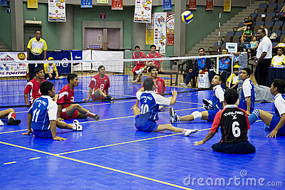 Men s Sitting Volleyball for Disabled Persons Editorial Photo