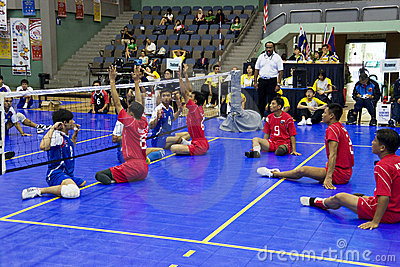 Men s Sitting Volleyball for Disabled Persons Editorial Stock Photo