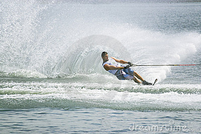 Men s Slalom Action - Aaron Larkin Editorial Stock Image