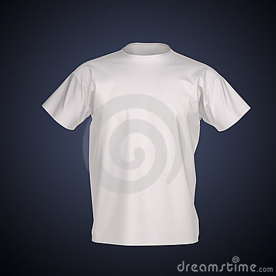 Men s T-shirt Isolated with clipping path
